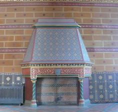 Fireplace in the guard room in Blois Royal Castle