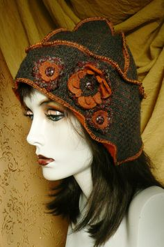 Hats Made From Recycled Sweaters | Winter Hat Recycled Sweater (M). $28.00, via Etsy. | Sweater Ideas