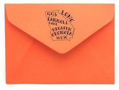Personalized Georgia Return Address Stamp by magnoliacreativeco, $35.00