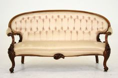 (C2213) Antique Scottish Victorian Mahogany Sofa, Settee, Love Seat ~1880~