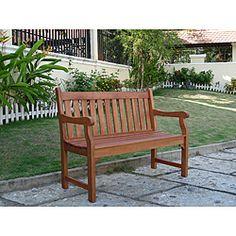 Henley 2-Seater Eucalyptus Wood Outdoor Bench