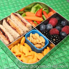 Healthy Kids School Lunch healthy-and-fun-lunch-ideas-for-the-family Kids Lunch For School, Healthy Lunches For Kids, Lunch To Go, Healthy Snacks, Lunch Time, School Ideas, Lunch Box Bento, Lunch Snacks, Work Lunches