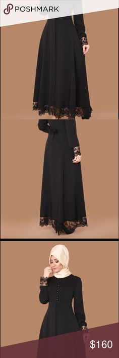 Brand new amazing and beautiful black abaya Brand new beautiful and excellent Turkish fabric Dresses