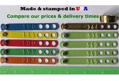 Custom Stamped American Made Leg Bands www.pinnonhatch.com