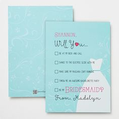 Create lasting Wedding memories with the Will You Be My Bridesmaid Personalized Flat Card. Find the best personalized wedding gifts at PersonalizationMall.com