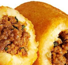 Bolinhos de Batata Recheados com Carne Moída no dia 13/05/2011