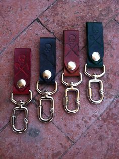 The Graveside, Leather Keychain, Snap Leather Keychain Brown with brass screw clasp, Belt keychain, Leather key chain, Groomsmen Gift