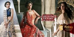A handpicked variety of the finest Suits Sarees Gowns and Lehengas from the house of #Manyavar