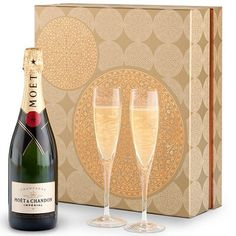 Champagne And Flutes Gift Set | Valentines Day Gifts For Couples, Him, Her, Wife, Husband