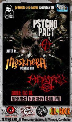 Cresta Metálica Producciones » El Teatro Bar Valencia presenta a Psycho Pact, Maskhera y Metastasis este 5 de septiembre
