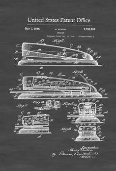 Surgical instrument patent 1902 doctor office decor Forooshino Stapler Patent Print Teacher Gift Office Wall Decor School Principal Gift Classroom Decor By Patentsasprints Pinterest 201 Best Blueprints Patents Images Patent Prints Art