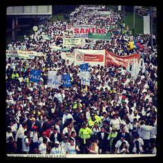 Marcha de La Paz 09.04.2013. Bogotá, #Colombia