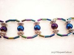 This bracelet has some give to it and doesn't lay flat when removed  Ladder Weave Beaded Bracelet Video Tutorial
