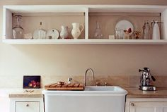 lovely use of kitchen shelves