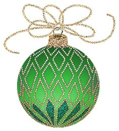 Christmas Blue And Gold Ornament Clipart
