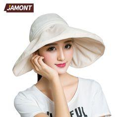[JAMONT] 2017 Summer Hats for Women Wide Brim Travel Beach Hat Sun Cap S3344