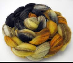 Wildcats  Hand Dyed Roving  Spinning Fiber  by DyeabolicalYarns (Craft Supplies & Tools, Fiber & Textile Art Supplies, Yarn & Roving, Roving, wool, dyeabolical, Hand Painted, spinning fibers, hand dyed roving, hand painted roving, handpainted, roving, combed top, dyed wool, hand dyed wool, fiber, felting)