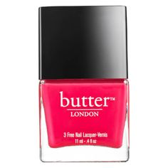 butter LONDON Trend Nail Lacquer 11ml Cake Hole (€9,04) ❤ liked on Polyvore featuring beauty products, nail care, nail polish, butter london nail lacquer, butter london and butter london nail polish