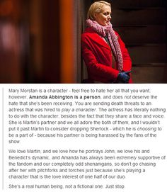 Very well put. She doesn't deserve any sort of hate for playing this character (and playing her very well, I might add).