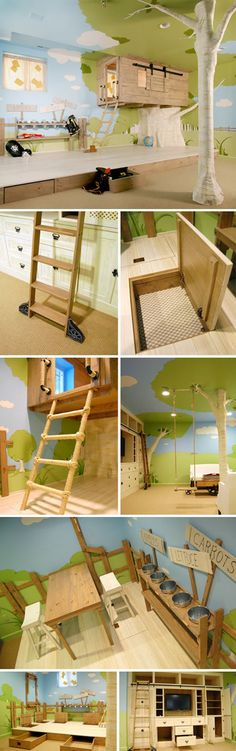 Tree house kids room.
