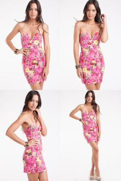 Imagine this cute dress paired with your favorite wedges or sandals!  ♡♡ Time to treat yourself ♡♡ Floral Print Strapless Sweetheart Neckline Party Dress https://levixen.com/FLORAL-PINK.html GET YOURS LADIES! #womensclothing #fashion #trendy #chic #pretty #florals #dresses #partydress #sexydress #sweetheart #summerfashion #summer #bestseller #ootd #ootn #lookbook #dailylook #wiwt #outfit #model #style #fashionista #lookoftheday #humpday #wednesday