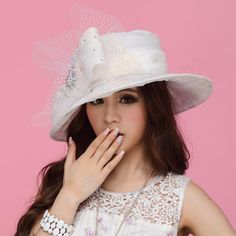 Women Hat Organza Hat Summer Sun Hat Organze Wide Brim Hats | Buy Wholesale On Line Direct from China
