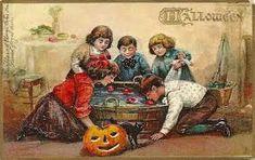 Tuck 183 Halloween postcard Bobbing for Apples Corner wear Retro Halloween, Halloween Apples, Vintage Halloween Cards, Halloween Facts, Halloween Series, Halloween Party Games, 31 Days Of Halloween, Vintage Cards, Happy Halloween