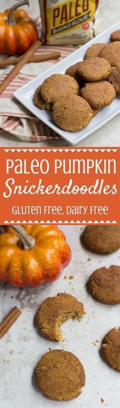 Looking for the perfect gluten-free fall dessert? Try this Paleo Pumpkin Snickerdoodles Recipe! Light, fluffy + SO yummy! This recipe is sponsored by Bob's Red Mill. Have you tried their paleo baking flour?? It's amazing! | paleo snickerdoodles | paleo co