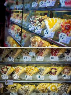 A shop in Takeshita-dori, Harajuku selling crepe.