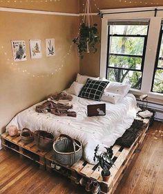 Shelf Decor Bedroom Above Bed Room Ideas Bedroom, Bedroom Loft, Home Decor Bedroom, Bedroom Designs, Bedroom Ideas For Small Rooms Cozy, Dream Bedroom, Bed Room, Bedroom Furniture, Diy Pallet Bed
