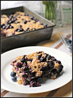 Lemon Blueberry Baked Oatmeal. I don't use Meyer lemons - they're disappointingly untart. And don't do the layer thing. Mix it all together and quickly pour it into the pan. Layering it left some dry oatmeal bits.