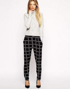 ASOS | ASOS Peg Pant In Grid Check at ASOS