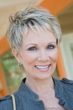 short hairstyles for older women..