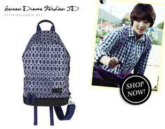 [Korean Drama Fashion] To the Beautiful You, Choi Sulli - Eastpak x Kris Van Assche Canvas Backpack