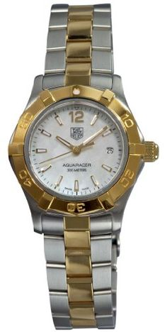 Lovely+Gorgeous+Beautiful+Karisma+Enigma+TAG Heuer Elegant Ladies Watches TAG Heuer Women's WAF1424.BB0825 Aquaracer 28mm 18k Yellow Gold Mother-of-Pearl Dial Watch Buy now with new offer price deals and discount