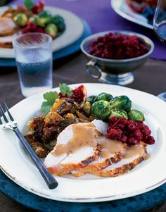 Spice-Rubbed Whole-Roasted Turkey with Cranberry Gravy