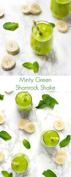 Minty Green Shamrock Shake Recipe - Your favorite holiday shake that is perfect for breakfast, lunch, or snack time! Lots of protein and low in sugar.