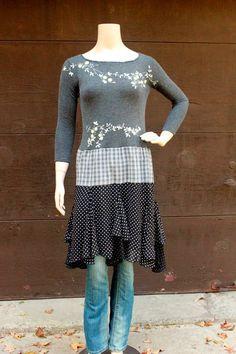 Boho Fall Sweater Dress