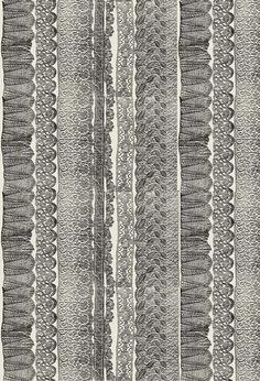 Marney's Lace / Charcoal - Artisanal Wallpaper from The Wallpaper Collective