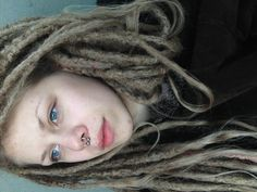 Thanks to dreadlocks, I've finally become comfortable with my natural typical swedish ashblonde haircolor!
