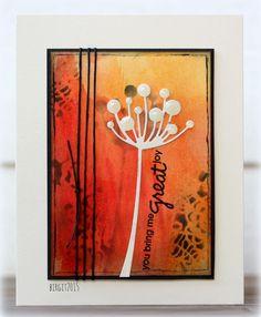 Birgit Edblom:  Birgit Edblom:  Memory Box Chloe Stem Die; Tim Holtz Doily Layering Stencil; Paper Smooches Group Hugs Stamp Set (sentiment); Distress Inks