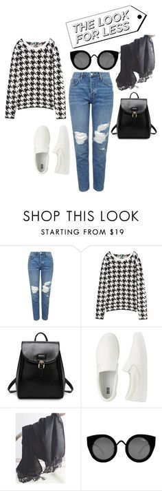 """""""#lookforless"""" by aanchal-sagar ❤ liked on Polyvore featuring Topshop, Uniqlo and Quay"""