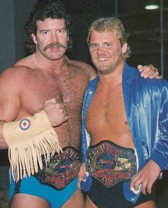 Scott Hall and Curt Hennig. AWA World Tag-Team Champions