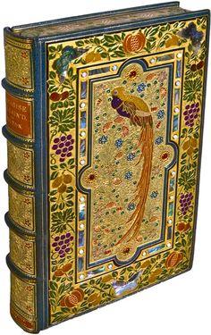 Paradise Lost, 1667, by John Milton (Poet. England, 1608-1674). Epic Poem. Treasure Binding. SANGORSKI & SUTCLIFFE (Bookbinder). More on S+S: http://en.wikipedia.org/wiki/Sangorski_%26_Sutcliffe . This is just stunning!