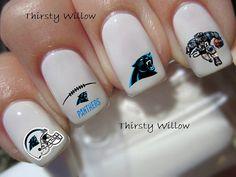 Carolina Panthers Nail> LOVE THESE!!!