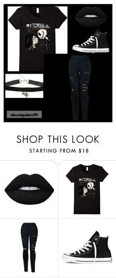 """""""MCR"""" by topfobpatdatl ❤ liked on Polyvore featuring Lime Crime and Converse"""