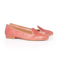 Slippers femme - Robinson Baby pink croco leather