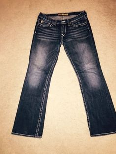 BIG STAR REMY LOW RISE BOOT stretchy aged look jeans 30 R Legendary Blue Jeans #BigStar #BootCut
