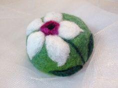 Felted Soap by sweetnola wool fiber art pink by sweetnola