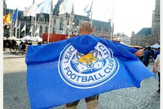 Rob Tanner celebrates a historic night for Leicester City